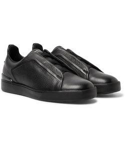 Ermenegildo Zegna | Triple Stitch Full-Grain Leather Slip-On Sneakers