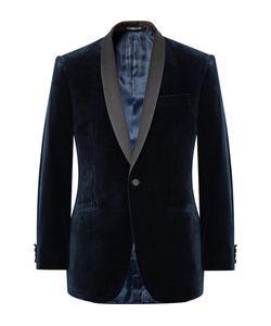Richard James | Hyde Slim-Fit Satin-Trimmed Cotton-Velvet Tuxedo Jacket
