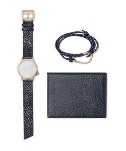 Miansai | Plated Watch Cord Wrap Bracelet And Pebble-Grain Leather Wallet