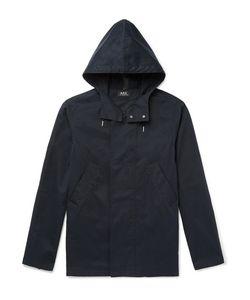 A.P.C. | A.P.C. Cliff Water-Repellent Cotton-Blend Hooded Parka
