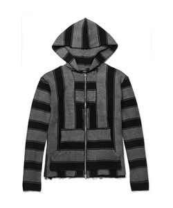 Amiri   Baja Striped Cotton-Terry Zip-Up Hoodie
