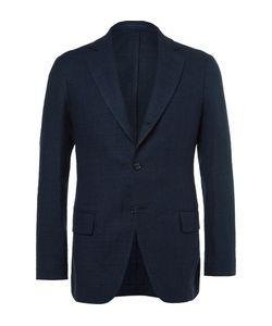 Mp Massimo Piombo | Linen Cotton And Silk-Blend Hopsack Blazer