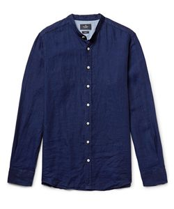 Hackett | Slim-Fit Grandad-Collar Slub Linen Shirt