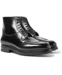Santoni | Split-Toe Leather Boots