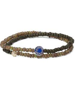 Luis Morais | Glass Bead Sapphire And Wrap Bracelet