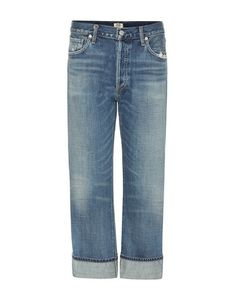 Citizens of Humanity | Cora High-Rise Relaxed Crop Distressed Jeans