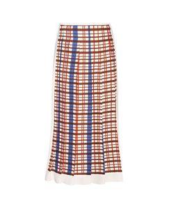 Victoria Beckham | Printed Pleated Midi Skirt