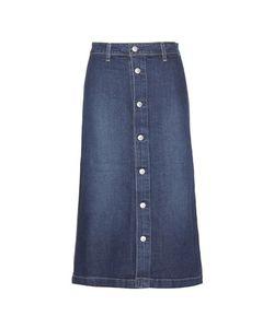 Alexa Chung for AG | Cool Denim Midi Skirt