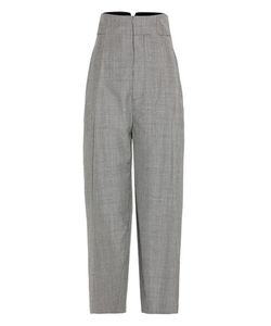 Jacquemus | Houndstooth Wool And Mohair Cropped Trousers