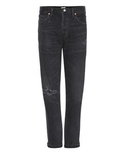 Citizens of Humanity | Liya Distressed High-Rise Cropped Jeans