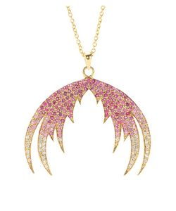 House Of Waris | Plumage Ombré 18kt Pendant Necklace With Pink Sapphires