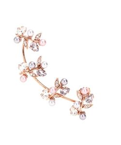 Joanna Laura Constantine | Roseplated Ear Cuff With Swarovski Crystals