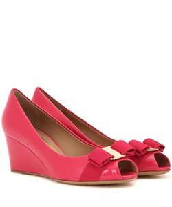 Salvatore Ferragamo | Sissi Patent Leather Wedges