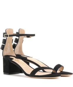 Salvatore Ferragamo | Connie Embellished Suede Sandals