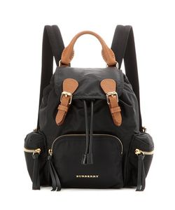 Burberry London | The Small Leather-Trimmed Backpack