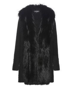 Salvatore Ferragamo | Knitted Wool Coat With Fur Trim
