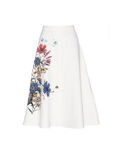 Erdem   Maury Printed Crêpe Skirt