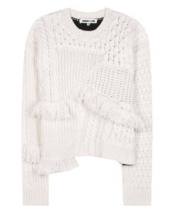 McQ | Fringed Wool And Cashmere Sweater