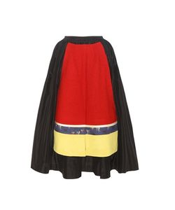 Undercover | Wool-Trimmed Silk Skirt