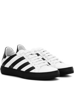 Off-White | Classic Diagonals Leather Sneakers