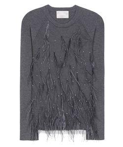 Jason Wu | Skye Feather-Embellished Wool And Silk-Blend Sweater