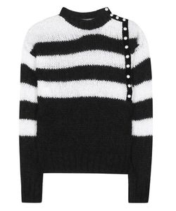 Philosophy di Lorenzo Serafini | Striped Mohair-Blend Knitted Sweater