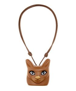 Loewe   Cat Face Leather Necklace