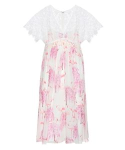 Giamba | Printed Silk And Lace Dress