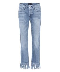 3X1 | Wm3 Crop Fringe Denim Jeans