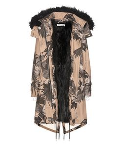 Off-White | Printed Faux-Fur Lined Parka