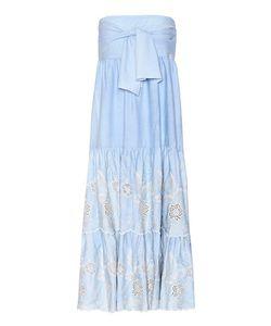 Athena Procopiou   Codre Embroidered Strapless Dress