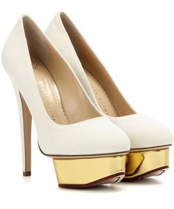 Charlotte Olympia | Dolly Canvas Platform Pumps