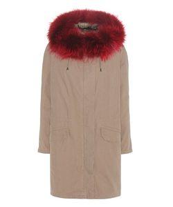 Army Yves Salomon   Cotton Parka With Fur