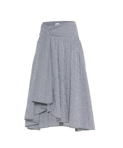 Rosie Assoulin | Full Volume Gingham Cotton-Blend Skirt