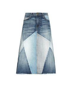 Current/Elliott | The Patchwork Denim Skirt