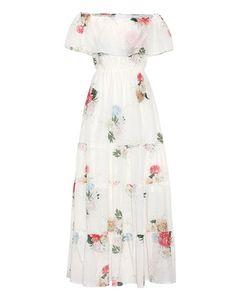 Athena Procopiou   -Printed Cotton And Silk Dress