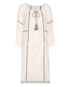 Velvet | Cristal Embroidered Cotton-Blend Tunic Dress