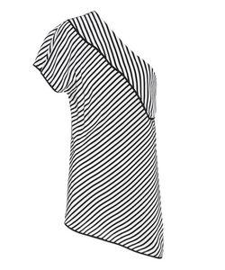 Diane von Furstenberg | One Shoulder Striped Top