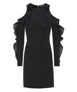 David Koma | Ruffled Open Shoulder Dress