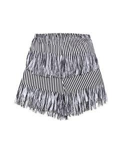 Prism | Fringed Cotton Shorts