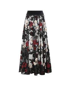 Ganni   Simmons Embroide Tulle Skirt