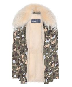 Army Yves Salomon | Fur-Lined Printed Parka