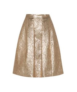 Oscar de la Renta | Wool And Silk-Blend Jacquard Cloqué Skirt