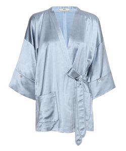 Edun | Wool-Blend Satin Kimono Top