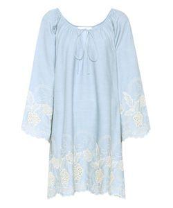 Athena Procopiou   Codre Embroidered Cotton Dress
