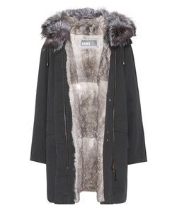 Army Yves Salomon   Fur-Trimmed Parka Coat