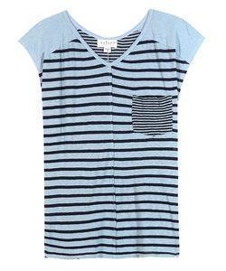 Velvet | Beaumont Striped Linen-Blend T-Shirt