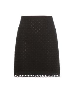 Carven | Cotton Broderie Anglaise Miniskirt