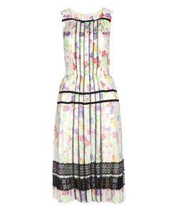 Oscar de la Renta | Lace-Trimmed Silk Dress