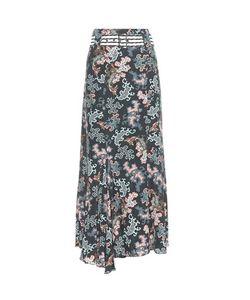 Dorothee Schumacher   Geometric Merge Silk-Blend Skirt